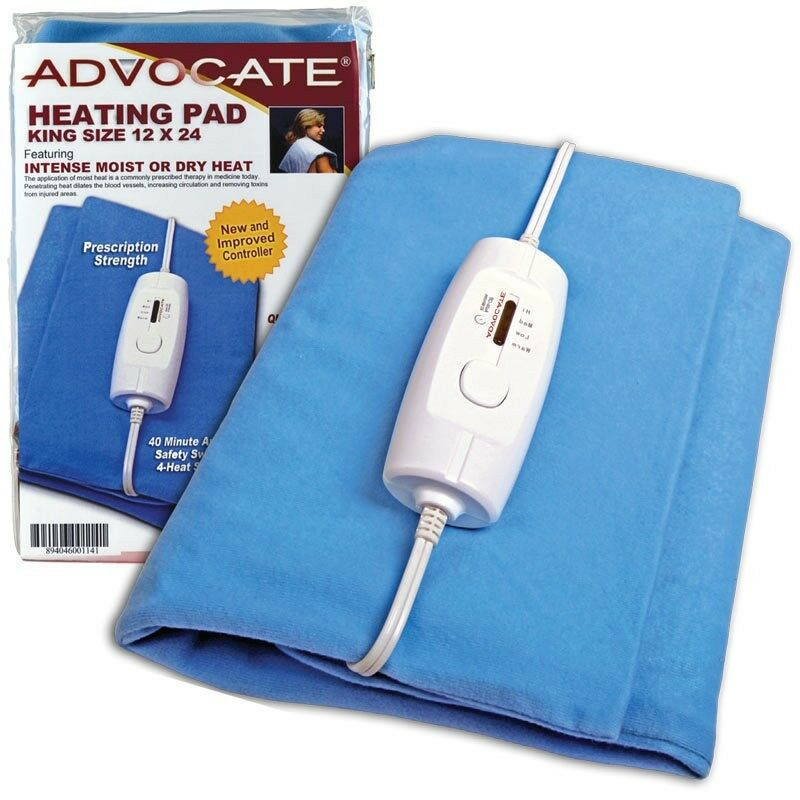"""Advocate Extra Large King Size Heating Pad 12 x 24"""" Moist &"""
