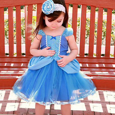 Cinderella Toddler Baby Girl Princess Tutu Dress Cosplay Party Costume O118 ZG9 (Toddler Tutu Costume)