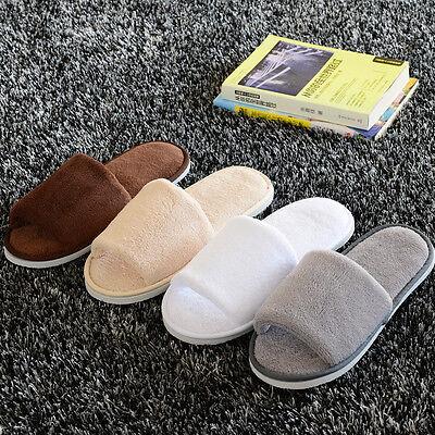 579d0bc668579 Men Women Unisex Coral Velvet Open Toe Spa Hotel Home Clubs Disposable  Slippers