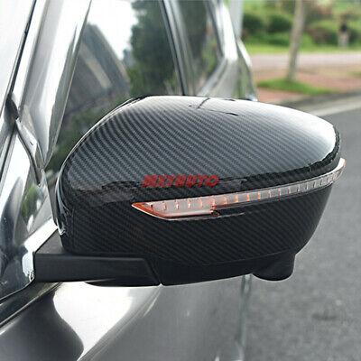 2X Carbon Fiber Look Door Side Mirror Cover Trim For Nissan Pathfinder Rogue