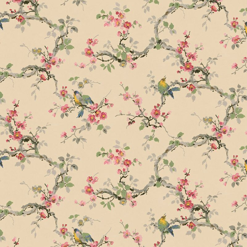 Dollhouse 1:12 Scale Wallpaper Vintage Songbirds by Bradbury and Bradbury