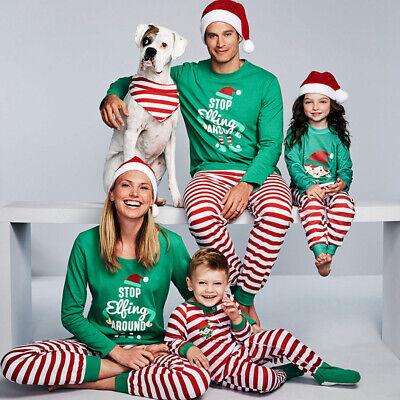 Winter Family Christmas Pajamas Set Xmas Matching Pyjamas Adult Kids Sleepwear ()