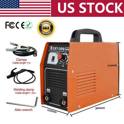 Portable Arc 200amp Stick Welder Inverter Mma Welding Machine Soldering Station