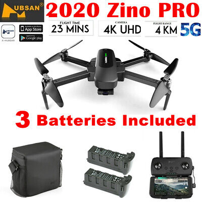 Hubsan Zino PRO 4.5KM 5G Wifi FPV APP DRONE--12MP 4K Camera 3Gimbal+3Battery+Bag