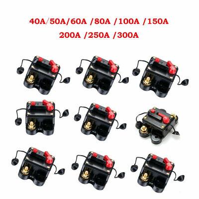 300a Car Audio (DC 40-300A AMP Car Audio Solar Energy Fuse Holder Inline Circuit Breaker 12V-24V)