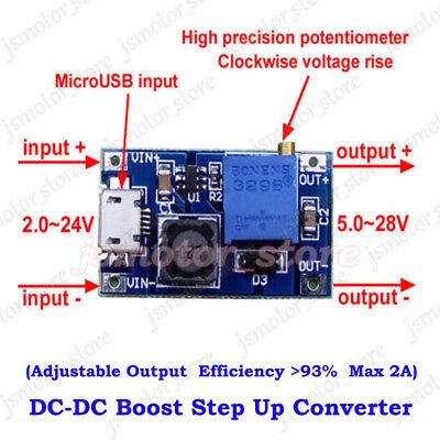 2a Dc-dc Boost Step Up Converter Micro Usb 3v-24v To 5v-28v Mini Volt Regulator