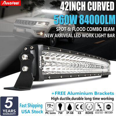 CREE Curved 42Inch 560W Led Work Light Bar OffRoad Ford Truck Driving Lamp 40/44