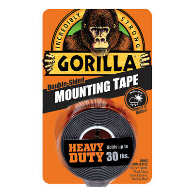 Gorilla Heavy Duty Mounting Tape Double-sided Black Holds 30 Lbs 1 X 60 L New