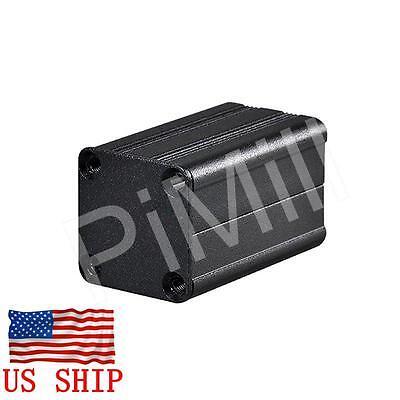 Aluminum Project Box Enclosure Case Electronic Diy 40x25x25mm Black Us Stock