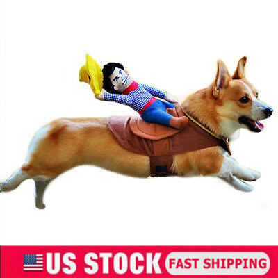 Funny Riding Horse Cowboy Pet Dog Costumes Puppy Halloween Party Costume - Horse Cowboy Costume