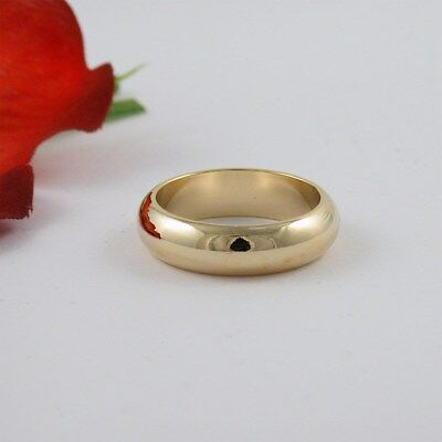 - 6MM 18k GOLD EP WOMEN'S WEDDING BAND ENGAGEMENT RING SIZE 5 6 7 8 9 10