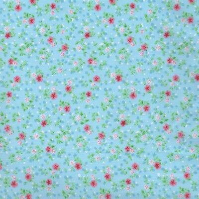 Mini Gigi Polybaumwolle - Blau - Zarte Stoff Kinderzimmer Bunting-Patchwork