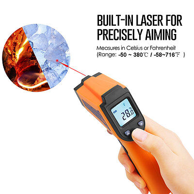 Temperature Gun No-contact Digital Laser Infrared Ir Thermometer Sensor Handheld