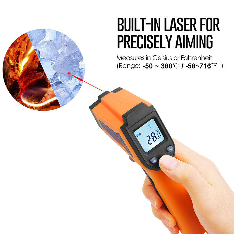 temperature gun no contact digital laser infrared