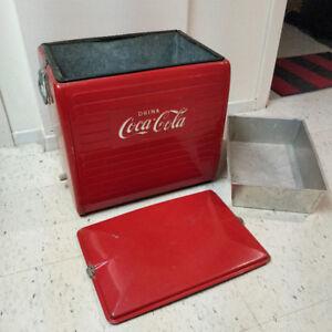 Vintage Coca Cola Cooler circa 1955 with sandwich tray $85