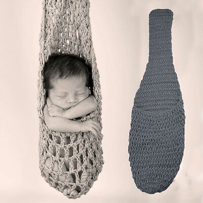 UK Newborn Baby Crochet Knit Sleeping Bag Costume Photo Photography Prop Outfits