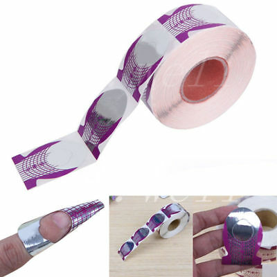 20 Nail Art Purple Guide Forms Acrylic/UV Gel Tips Extensions Manicure Stickers