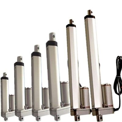2-12 Inch Silver Linear Actuator Stroke 225 Pound Max Lift Output 12v Volt Dc