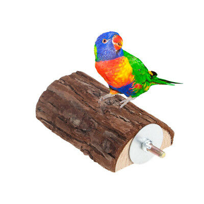 Pet Parrot Bird Cage Wooden Perches Stand Platform Parakeet Budgie Rat Play Toy