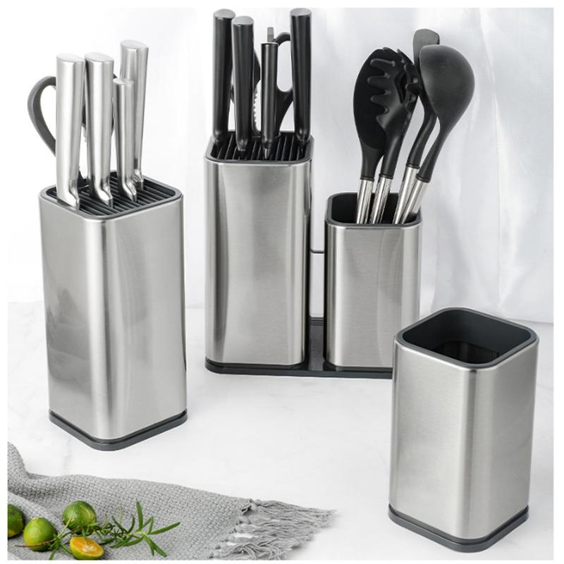 KitchenGiant Utensilien/Messer-Halter Aufsteller Organizer Edelstahl Behälter