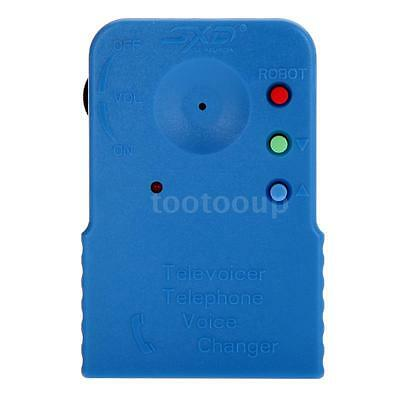 New Mini Portable Wireless 8 Multi Voice Changer Phone Microphone Disguise Blue