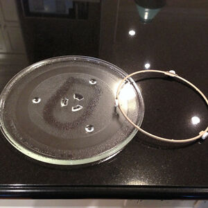 MICROWAVE GLASS PLATE AND CAROUSEL