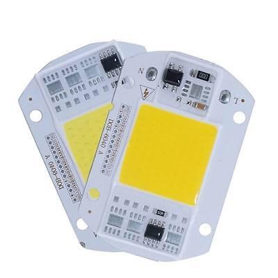 110v 220v LED Floodlight 20/30/50W Cool/Warm White COB Chip Smart IC Driver Lamp
