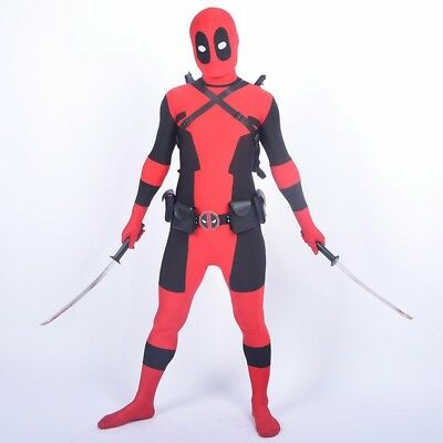 Kids Dead Pool Costumes Cool Full Body Spandex Boy Halloween Cosplay Party (Kids Coole Halloween Kostüme)