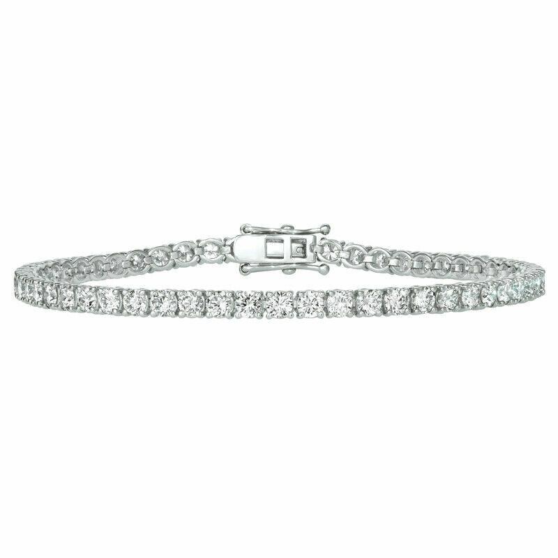 2.00 Carat Natural Diamond Tennis Bracelet G-H SI 14K White Gold 7'' 84 stones