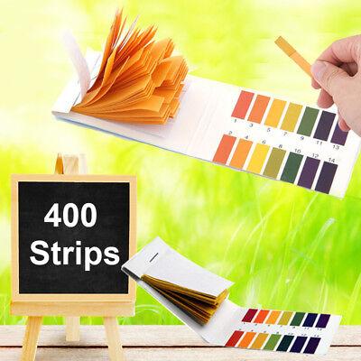 400x Strips Ph Indicator 1-14 Test Litmus Paper Tester Urine Saliva Aquarium Lab