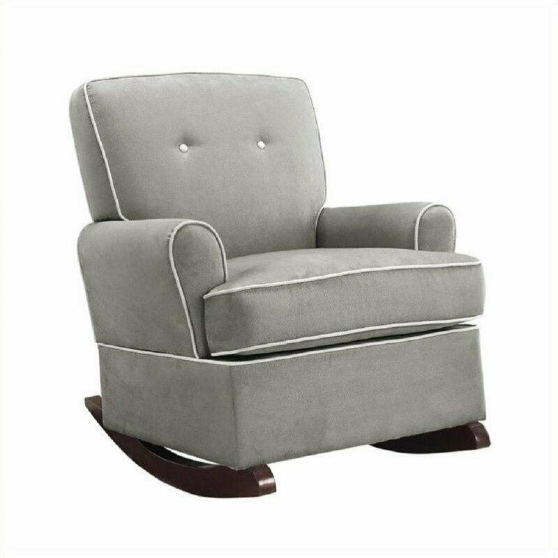 Baby Relax Tinsley Contemporary Upholstered Rocker in Gray