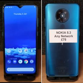 Nokia 5.3 - ANY NETWORK - £75