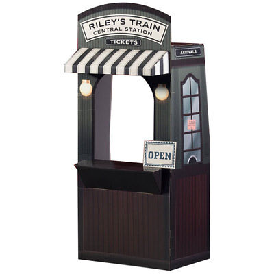 RAILROAD TICKET BOOTH Personalized CARDBOARD CUTOUT Standee Prop Playhouse F/S (Personalized Cardboard Cutouts)