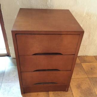 SMALL TIMBER SET OF 3 DRAWERS / BEDSIDE / USE INSIDE WARDROBE? Pymble Ku-ring-gai Area Preview