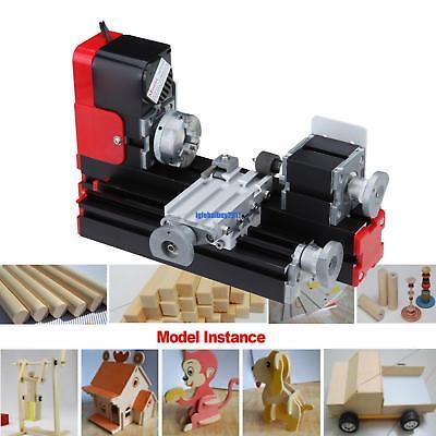 Mini Metal Lathe Machine Turning Woodworking workart DIY Tool 24W