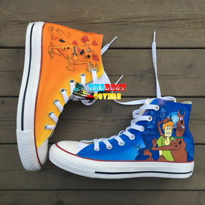 CONVERSE All Star SCOOBY-DOO cartoon hand painted shoes zapatos scarpe](Cartoon Converse Shoes)