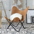 SUPER SALE!! Butterfly Chair Camel leer
