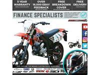 AJS JSM 50 E4 50cc Supermoto Finance UK IRE Delivery 50cc motorbike JSM50