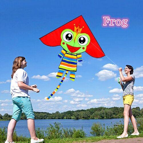 RED triangle Frog animal kites Outdoor fun Sports Toys singl