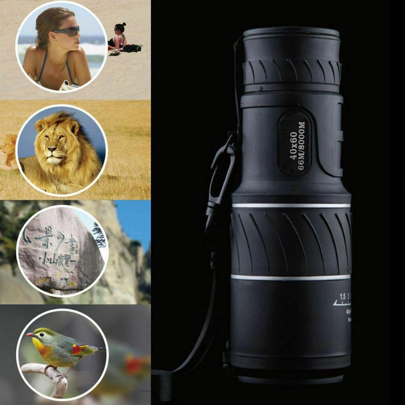 Monocular 40x60 Optics Zoom Lens Camping Hiking Hunting Tele