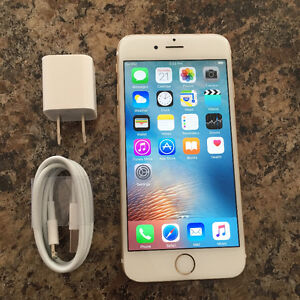 iPhone 6 64 GB White Gold Rogers/Chatr Mint Condition