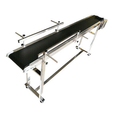 70.8 Long 7.8 Belt Width Conveyor 110v Powered Rubber Pvc Belt Package