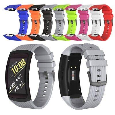 Weiche Silikon-Ersatzarmbanduhr Uhrenarmband für Samsung Gear Fit2-3-4 Pro