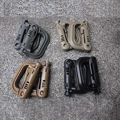 Molle Tactical Backpack EDC Carabiner Snap D-Ring Clip KeyRing Chain Buckle Snap