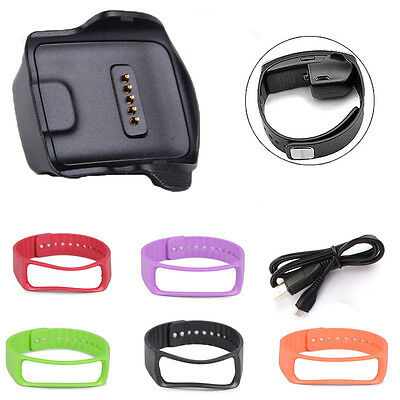 HOT Charging Dock for Samsung Galaxy Gear Fit R350 Watch+USB Cable+Wrist Strap