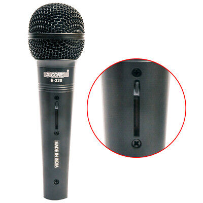 5 Core PROFESSIONAL AUDIO Dynamic Cardiod Karaoke Singing WIRED Microphone E-220 Karaoke Entertainment