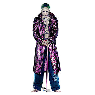 THE JOKER Suicide Squad Jared Leto Lifesize CARDBOARD CUTOUT Standup Standee F/S
