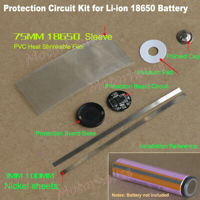 5a 3.7v Li-ion 18650 Lithium Battery Protection Circuit Round Pcb Board Kit Diy