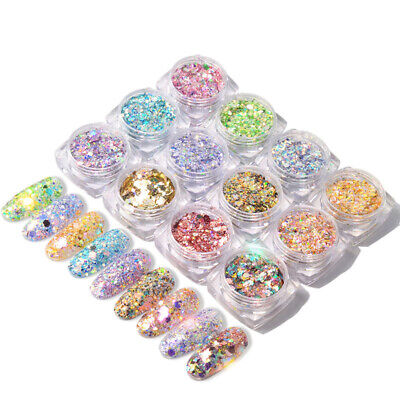Holographic Powder Confetti Chameleon Paillette Irregular Nail Art Glitter Decor