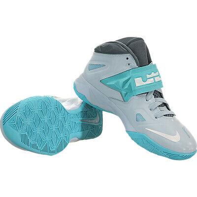 21b163341ec2 Nike Lebron Zoom Soldier 7 VII 599818-402 Silver Armory Blue Boys Sneakers  7Y